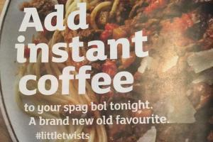 Sainsbury's coffee ad